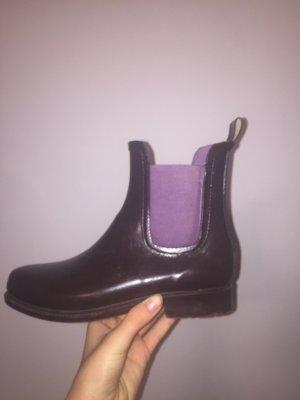 Botte en caoutchouc violet foncé