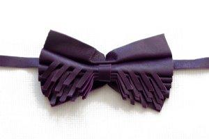 Cravatta casual viola scuro Pelle
