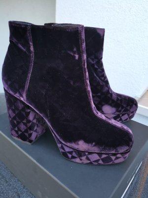 Vic Matie Bottines à plateforme violet-violet foncé