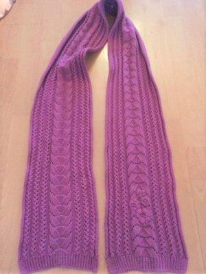 Szydełkowany szalik fioletowy-różowy