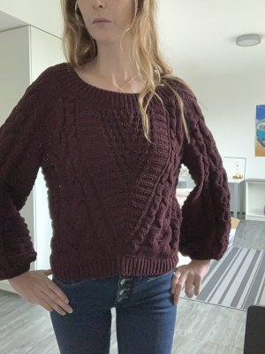 Express Oversized Sweater brown violet-purple