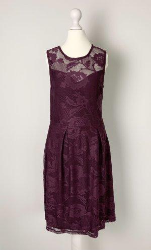 Violettes Kleid mit Spitze Cocktailkleid Abendkleid