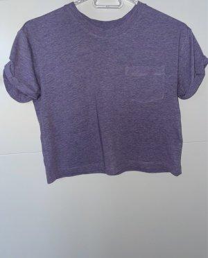 Violettes kurzes T-shirt