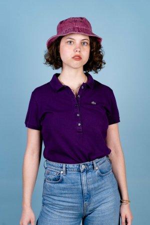 Lacoste Camicetta a maniche lunghe viola Cotone