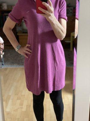 Violettes Long Shirt mit Kapuze, echt retro
