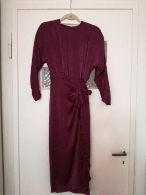 violettfarbendes Abendkleid von Mango Suit