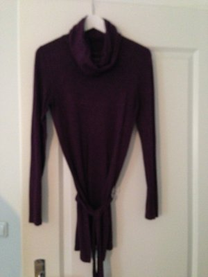 Violettfarbener Long Pullover