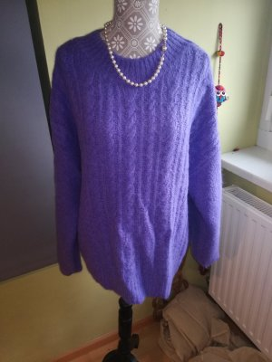Jake*s Coarse Knitted Sweater dark violet-blue violet mohair