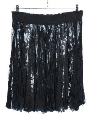 Virmani Crash Skirt blue wet-look