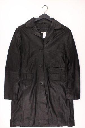 Virmani Manteau en cuir noir cuir