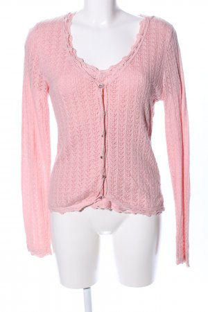 Virmani Strickjacke pink grafisches Muster Casual-Look