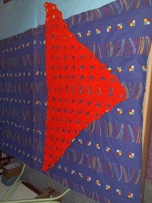 Crochet Scarf neon orange polyacrylic