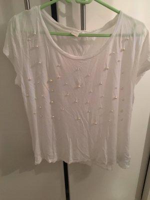 Viscose Shirt mit Perlen von H&M