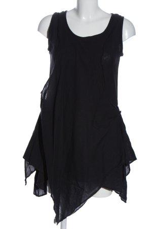 Vishes Robe bas asymétrique noir style décontracté