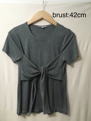 meshit Frill Top grey-silver-colored viscose