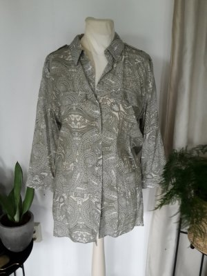 Viskose Bluse mit hellem grünen Paisley Muster Longbluse Tunika RESERVED klassische