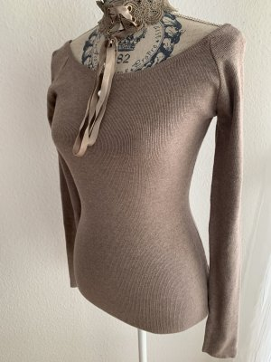 Koucla Jersey de cuello alto marrón grisáceo-taupe Viscosa