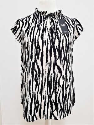 s.Oliver Stand-Up Collar Blouse white-black