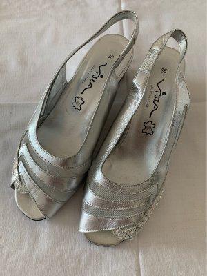 Vista Peeptoe Sandale Silber Gr. 36