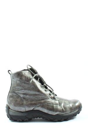 vitaform Bottes à lacets gris clair style décontracté