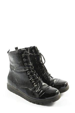 vitaform Schnür-Stiefeletten schwarz Casual-Look