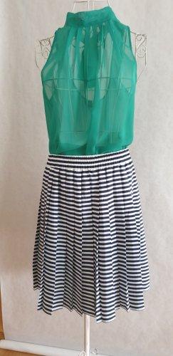 Pleated Skirt white-cornflower blue