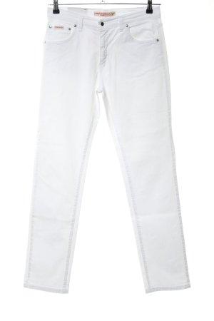 Vitamina Straight-Leg Jeans weiß Casual-Look