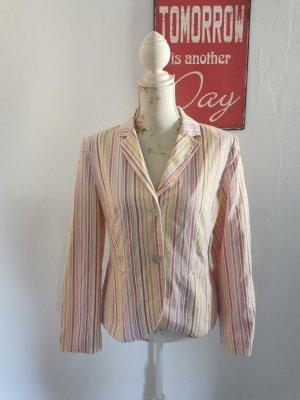 Vittoria Verani  Damen Designer Blazer Jacket gestreift pastell Größe 38