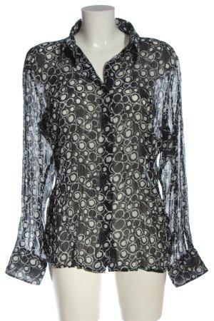 Vittoria Verani Blusa-camisa negro-blanco estilo «business»