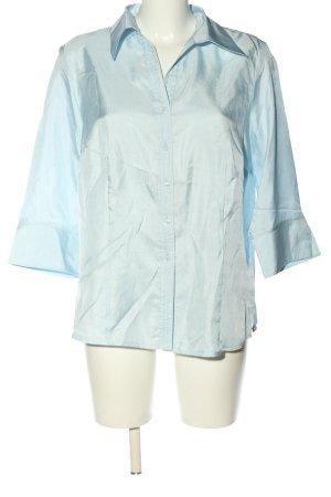 Vittoria Verani Blusa-camisa azul estilo «business»
