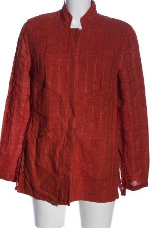 Vittoria Verani Blazer corto rosso-arancione chiaro motivo a righe stile casual