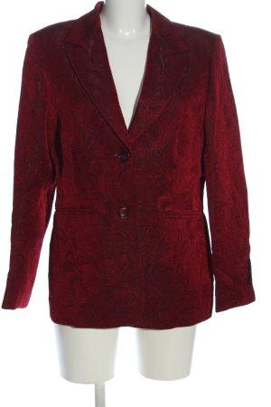Vittoria Verani Blazer lungo rosso motivo astratto stile casual