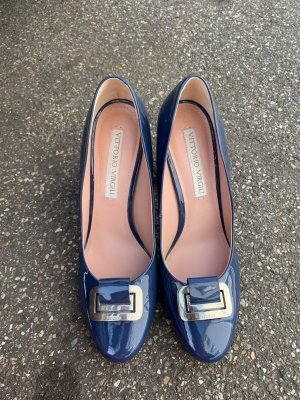 Vittorio virgili Pumps lack Blau gr 39 einmal getragen