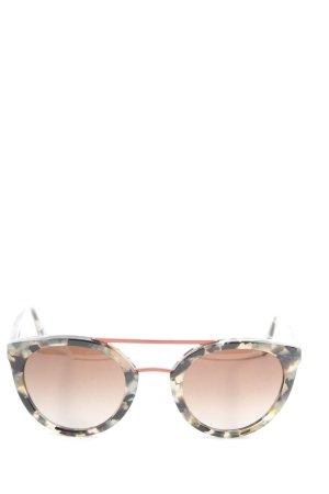 VIU Okrągłe okulary przeciwsłoneczne czarny-w kolorze białej wełny