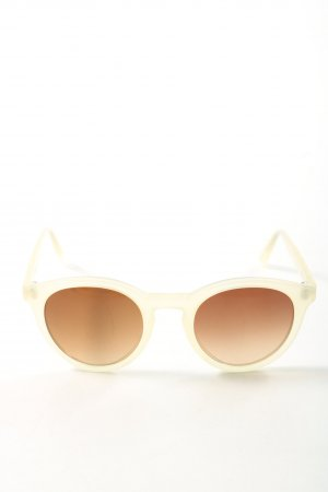 VIU runde Sonnenbrille wollweiß Casual-Look