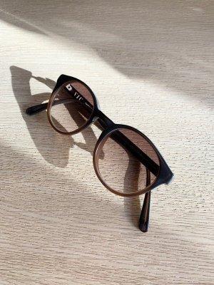 VIU Ronde zonnebril bruin-donkerbruin