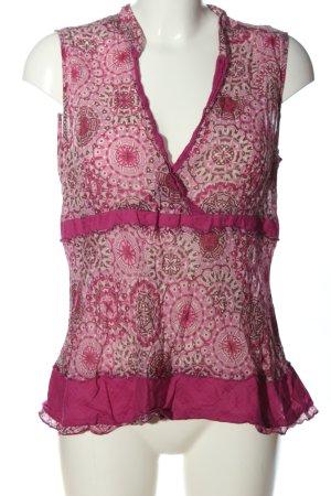 Vivance ärmellose Bluse pink Motivdruck Casual-Look