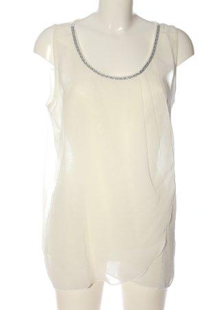 Vivance Blusa senza maniche bianco stile casual