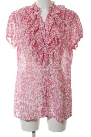 Vivance Blouson pink-weiß Allover-Druck Casual-Look