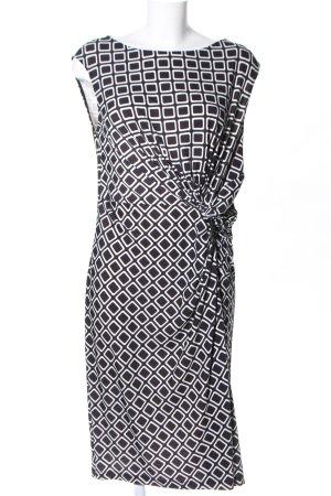 Vivance Jerseykleid schwarz-weiß Allover-Druck Elegant