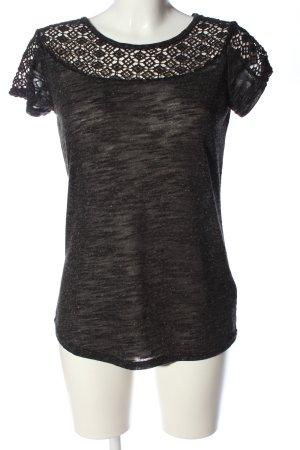 Vivance Bluzka z krótkim rękawem czarny Melanżowy W stylu casual
