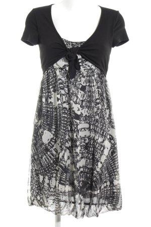 Vivance Kurzarmkleid schwarz-weiß Mustermix schlichter Stil