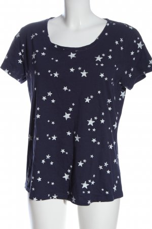 Vivance T-shirt blu-bianco stampa integrale stile casual