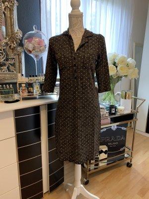 Vive Maria 3/4 - Ärmel Kleid mit aufgedruckter Spitze und Pünktchen, Größe S