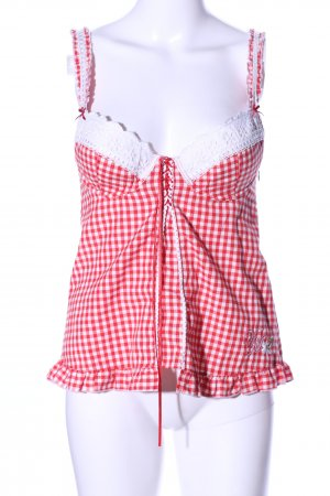 Vive Maria Corsage Top red-white check pattern casual look