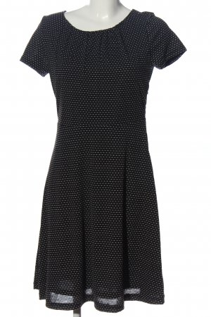 Vive Maria Kurzarmkleid schwarz-weiß Punktemuster Casual-Look