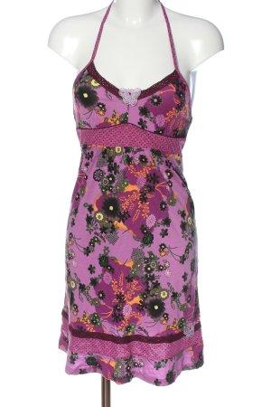 Vive Maria Minikleid pink-grün Blumenmuster Casual-Look