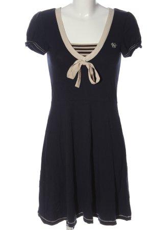 Vive Maria Sommerkleid schwarz-wollweiß Streifenmuster Elegant