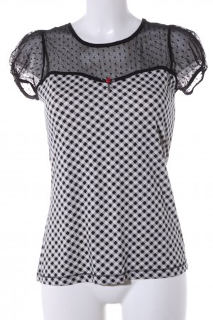 Vive Maria T-Shirt weiß-schwarz Allover-Druck Casual-Look