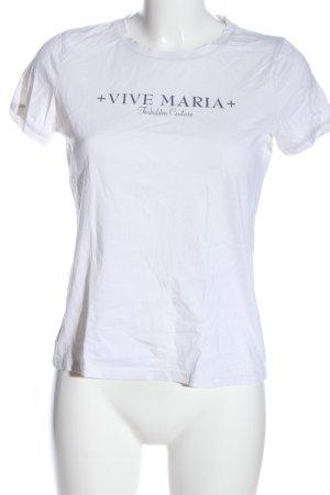 Vive Maria T-shirt bianco caratteri stampati stile casual
